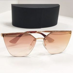Prada Pink Mirror Gradient Cat Eye Sunglasses